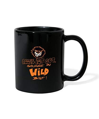 Die Wilden Kerle Spruch Motto mit Logo Tasse einfarbig, Schwarz
