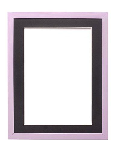 Fotolijst, met passe-partout, onbreekbaar, plexiglas, 50,8 x 40,6 cm, voor A3-foto's, kleuren van de regenboog