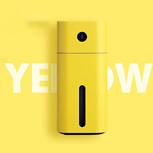 Xiao Long Humidificador de Coche Aromaterapia Aceite Esencial Aerosol Purificador de Aire Mute Dormitorio Coche Mini Barra de oxígeno Humidificador de Coche humidificador (Color : Yellow)