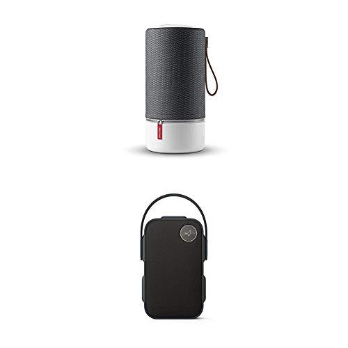 Libratone ZIPP Wireless Multiroom Lautsprecher (360° Sound, WiFi, AirPlay 2, Bluetooth, 10h Akku) Graphite Grau + One Click Bluetooth Lautsprecher (360° Sound, IPX4 Spritzwassergeschützt) Graphit Grau