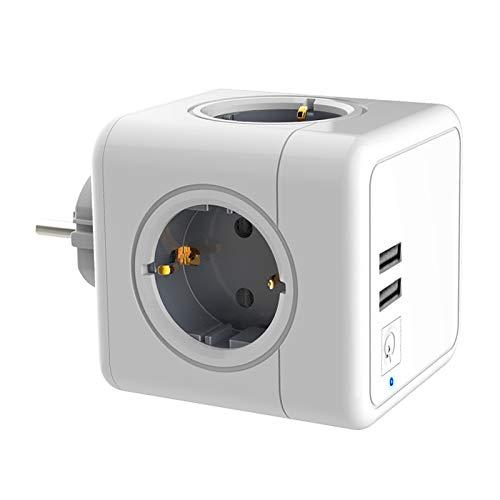 SZZXS-Presa USB wireless con 4 prese, 2 porte caricatore USB e 1 porta tipo C, adattatore 7-in-1 con USB, utilizzata per elettrodomestici, smartphone, computer e vari tipi di dispositivi elettronici.