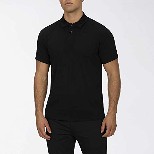 Hurley M DF Harvey Solid Polo S/S Tee-Shirts Homme, Black, FR : L (Taille Fabricant : L)