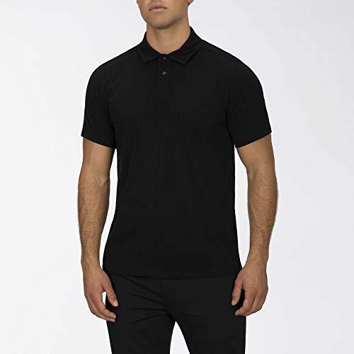 Hurley M DF Harvey Solid Polo S/S Camisa, Hombre, Black