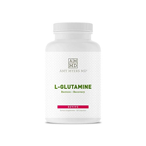 L-Glutamine Capsules from The Myers Way Protocol - Helps Beat Sugar Cravings & Support Healthy Weight - Dietary Supplement, 120 Capsules 850 mg per Capsule - from Dr. Amy Myers