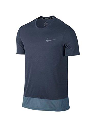 Nike M Nk Brthe Rapid SS, Maglietta Uomo, Blu Cielo/Blu Militare, S
