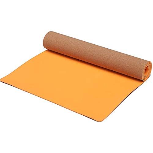SUREA - Esterilla de yoga de corcho + TPE, esterilla de yoga profesional, respetuosa con el medio ambiente, antideslizante, adecuada para yoga, pilates, meditación y ejercicios de suelo., amarillo