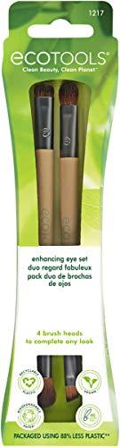 Ecotools® Enhancing Eye Set - Juego de brochas dobles para maquillaje de ojos
