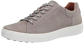 ECCO Men s Soft 7 Street Sneaker Wild Dove Nubuck Perforated 10-10.5