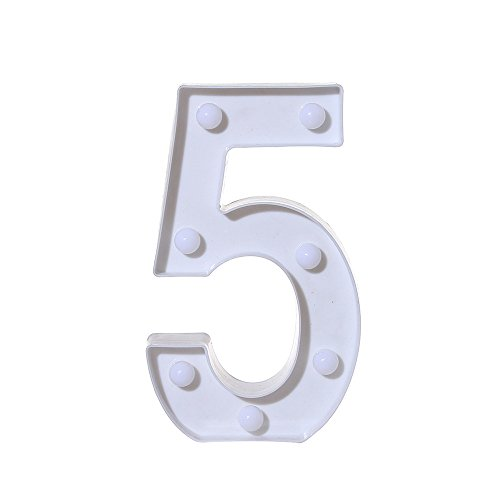 Clearance! Number Light Sign WATOPI Marquee Number Light Up Marquee 0-9 Digits Lights Sign for Night Light Standing Wedding Birthday Party Battery Powered Christmas Lamp Home Bar Decoration
