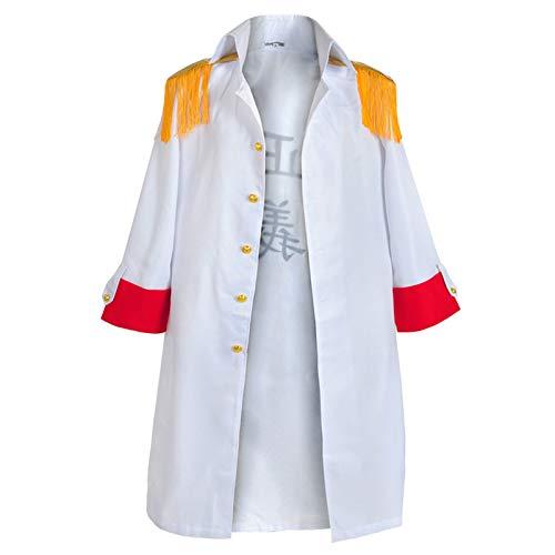 YZJYB Disfraz De One Piece Larga De Caballero Uniformes Cosplay Adulto Capa Disfraces Blazer para Hombre De Halloween Anime Musica,S