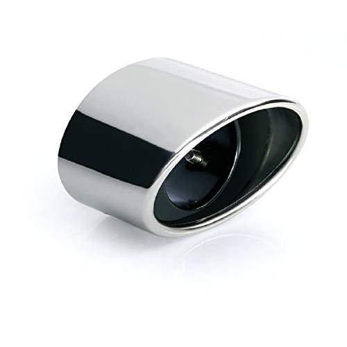Auspuffblende oval Endrohr Auspuff Sportauspuff Optik Blende Edelstahl Anschluß 45-60mm