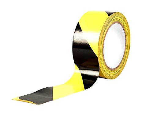 Gefahr Warnung Klebeband, 33 m x 50 mm (5,1 cm) - selbstklebend Markierungsband, hochwertige Rolle von gocableties (schwarz/gelb) - 3