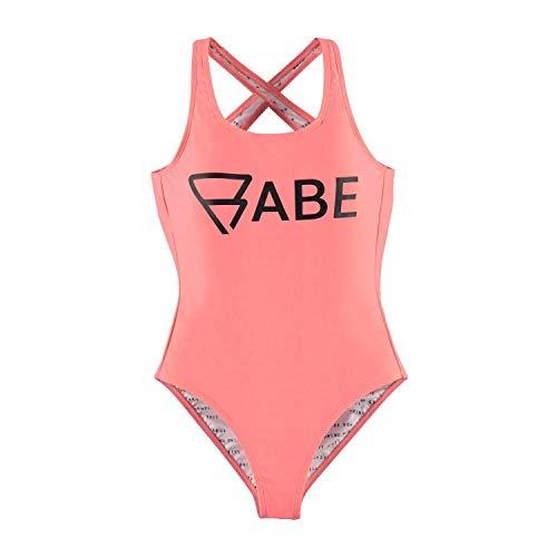 Brunotti Badeanzug Suit Sungrebe Woman Swimsuit rosa elastisch Schriftzug (38)