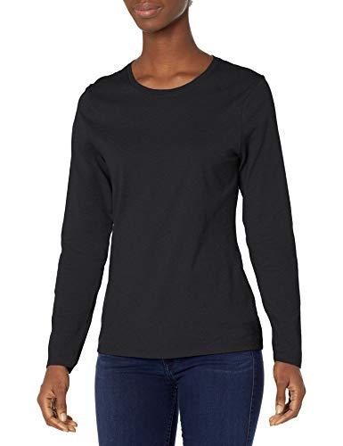 Hanes Women's Long Sleeve Tee, Ebony, X-Large