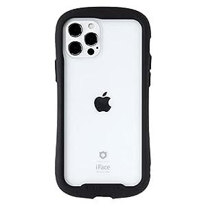iFace Reflection iPhone 12/12 Pro ケース iPhone2020 6.1インチ クリア 強化ガラス [ブラック]
