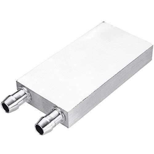 Nrpfell Bloque de Enfriamiento de Aluminio y Agua Líquida para el Radiador de la Computadora CPU para Pc y Laptop Sistema de Disipador de Calor de Plata (80Mm)