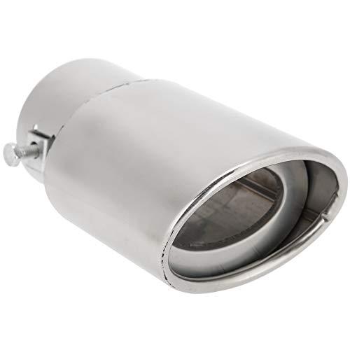 Tubo de Escape Recto para Automóvil Universal Punta de Silenciador Trasero Punta de Garganta Garganta de Acero Inoxidable Extremidades para Tubo de Escape de Plata Brillante