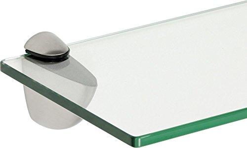 ib style® Mensola in ventro | 8mm |incl. clip CLASSICO acciaio inossidabile | 12 dimensioni | 3 designs| chiaro | 40x30cm