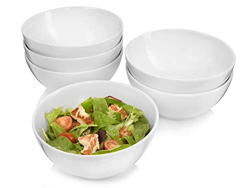Sänger Salatschalenset Sunfort 6 teilig | Füllmenge 1,1 l | Klassisches Design und Schlichte Form | Vielseitig Einsetzbar für Salat, Snacks, Pasta, Nudeln