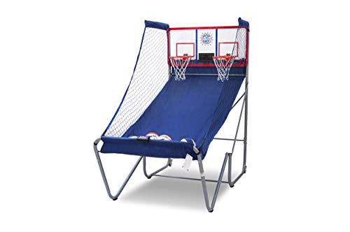 Pop-A-Shot Official Indoor/Outdoor Dual Shot Basketball Arcade Game - Weather Resistant - 16 Different Games - 6 Audio Options - Near 100% Scoring Accuracy - Large LED Scoreboard