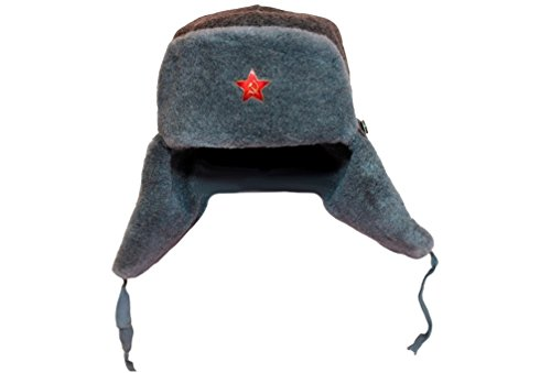 Authentic WW2 Russian Army Ushanka Winter Hat with Soviet Red Star