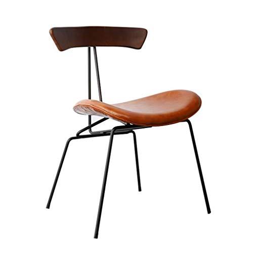 Taburete de Bar Nordic Chair Bar Restaurant Cafe Comedor Silla Estudio en casa Respaldo con Respaldo Acolchado Mesa de Comedor y sillas (Color : A)