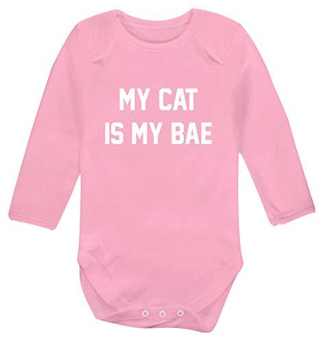 Flox Creative Babyweste mit Aufschrift 'My Cat is My Bae', langärmelig Gr. 6-12...