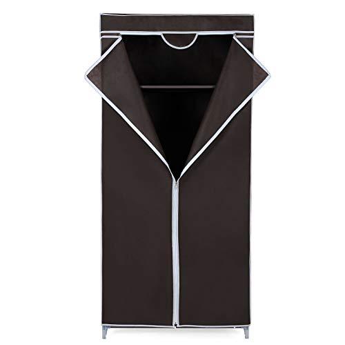LCSA Faltschrank Stoffschrank Kleiderschrank Campingschrank Garderobe Schrank Regal (Color : Braun - RYG83Z)