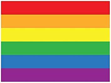 """MAGNET Gay Pride Flag Magnetic Car Sticker Decal Refrigerator Metal Magnet Vinyl 5"""""""