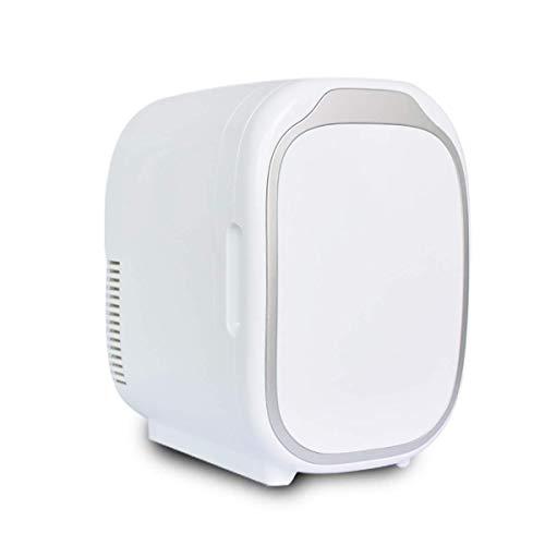 BYBYC 6-Liter-Mini-Kühlschrank Kühler Und Heizung, Transportable Kompakt Persönlicher Kühlschrank, 100% Freon Freier Umweltschutz, Geeignet Für Haus Und Auto,Weiß