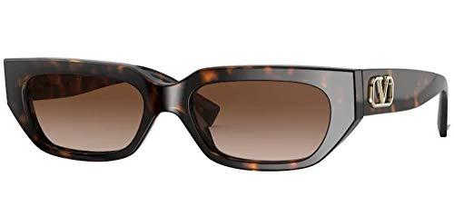 Valentino sonnenbrille VA4080 500213 HAVANA Havana marrone größe 53 mm Damen