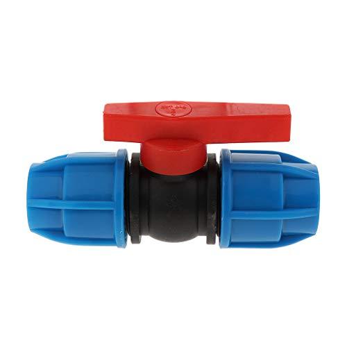 FLAMEER Auslaufventil Anschlussrohr Kugelhahn Auslaufhahn Zapfhahn, aus PE - 25mm Kunststoffkern