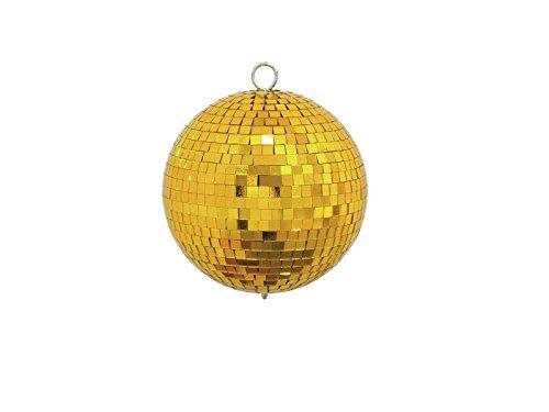 Eurolite Spiegelkugel 15cm gold | Discokugel mit goldenen Facetten | Mirrorball für die ganz besondere Deko