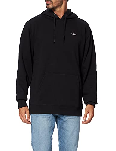 Vans Basic Pullover Fleece Sudadera con Capucha, Negro, M para Hombre