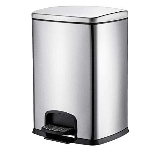 RJFAB Badkamer Bin – Badkamer Bins met Deksels – Kleine Pedaal Bin voor Badkamer, Toilet, Wastafel – RVS Rubbish Waste Prullenbak