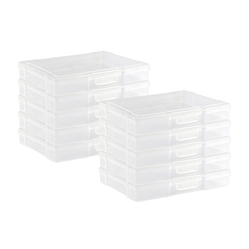 """Novelinks Transparent 4"""" x 6"""" Photo Storage Boxes - Photo Organizer Cases Photo Keeper Picture Storage Containers Box for Photos - 10 Pack (Clear)"""