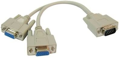 HUFAN VGA SVGA HDB15 Male to Special price for a limited time 2 Color Cable Female Co unisex : Splitter