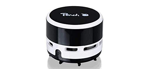Peach PA105 Mini Staubsauger | 1 Stück | batteriebetrieben (2x AA) | hohe Saugkraft | schwarz