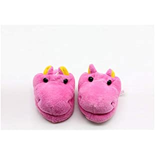 18 Inch Doll Mini Shoes, American Girl Doll Plush Animal Slippers Doll Accessories(Beige) (Color  Rosy, Size  7x3.6cm)