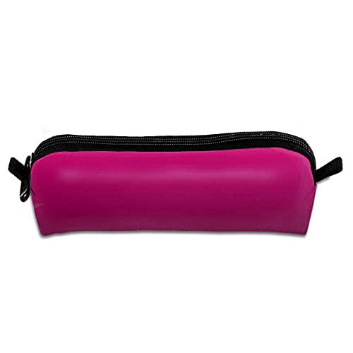 Estuche para lápices de oficina, portátil, bolsa de almacenamiento de lona, bolsa de maquillaje para estudiantes escolares, niños y niñas, personalizable, rosa fuerte y negro Ombre