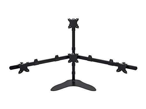 Monoprice Quad Monitor Pyramid Free Standing Desk Mount 1534; - 3034;