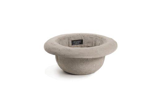 SELETTI Vaso in Cemento Chapeau-Bombetta Cm.29X24 H.11
