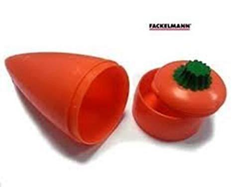 New Karottenform Aufbewahrung Snack Pot Box 2Fächer Taktstöcke Dips 24