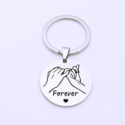 ZYSTMCQZ Lover Key Fob Fob Mujeres Llavero para Parejas Boyfriend Novia Marido Aniversario Regalo Joyería Llavero (Color : Mirror 30mm)
