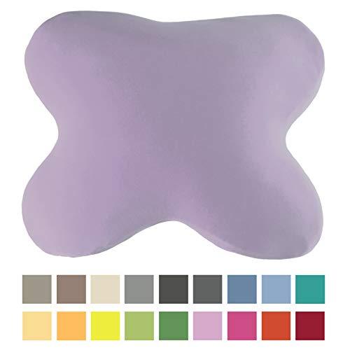 EddaLux Bezug für ACAMAR Seitenschläfer-Kissen und für LUXAMEL Bauchschläfer-Kissen   Schmetterlingskissen   Hochwertiger Jersey-Kissenbezug   100% Baumwolle   mit Reißverschluss   in vielen Farben