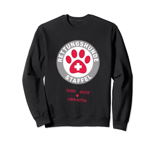 Rettungshundestaffel für Einsatzkräfte mit Rettungshund Sweatshirt