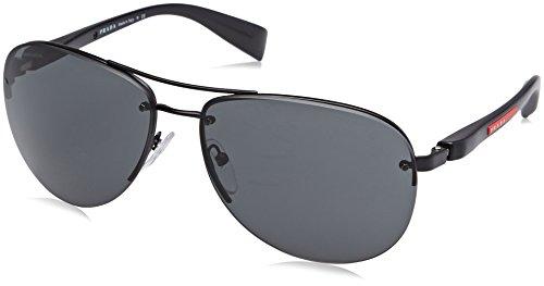 Prada LINEA ROSSA PS 56Ms (65) Gafas de sol, Black Demi Shiny, Hombre