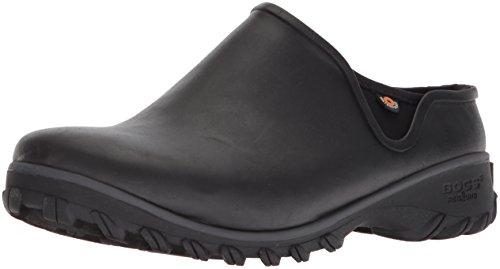 BOGS Women's Sauvie Chelsea Waterproof Garden Rain Boot, Black, 9 Medium US