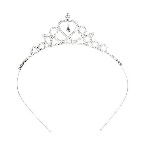 Oyfel Diademe Mariage Couronne Princesse Bandeau de Strass Hairband pour Mariage Bridal Enfant Bébé Filles Femmes Fête Accessoires De d'anniversaire des Jeux de Rôle 1 Pcs
