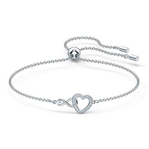 Swarovski Bracelet Swarovski Infinity Heart, blanc, métal rh